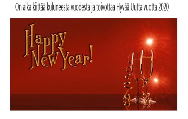 Hyvää uutta vuotta 2020